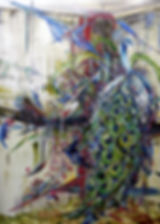 01)정오의-공작-peacock-in-the-afternoon-_-oil