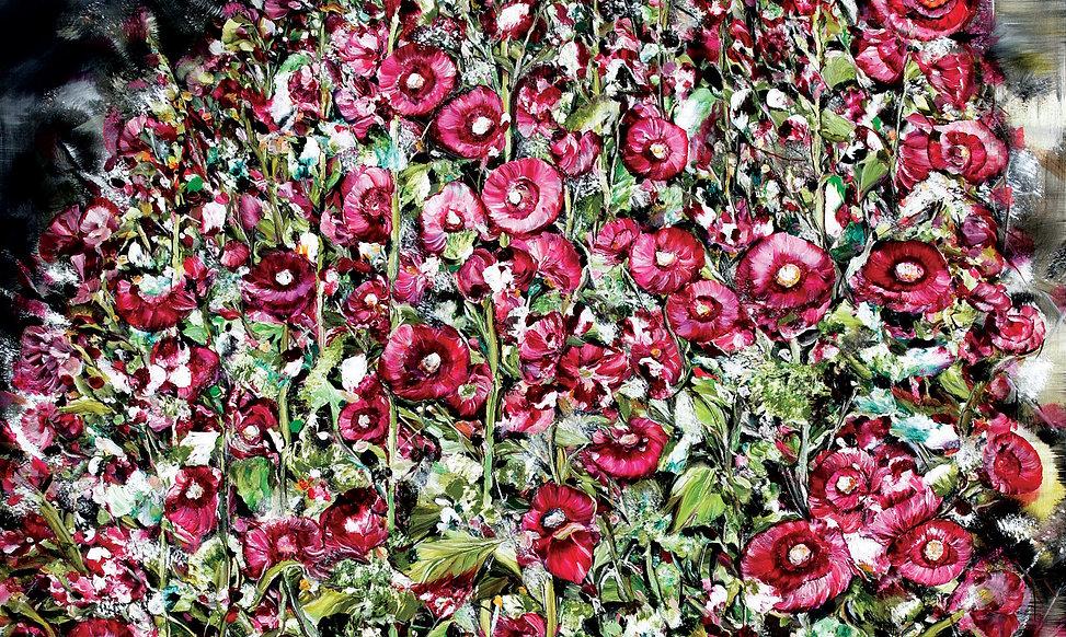 06-접시꽃-Hollyhock-97x162cm-dfghoil-on-can