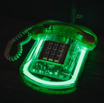 GREEN NEON PHONE