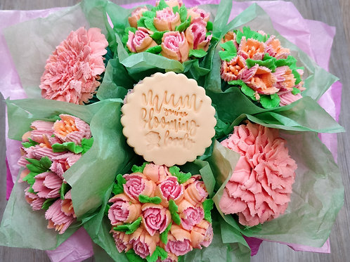 Mother's Day Flower Cupcakes - Large Bouquet of 7