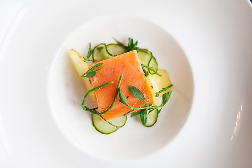 Gin Cured Trout Serves 4