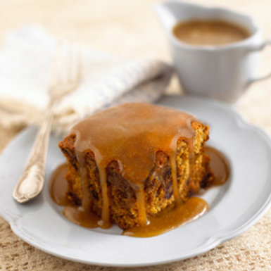 Sticky Toffee Pudding with Miso Caramel / serves 2