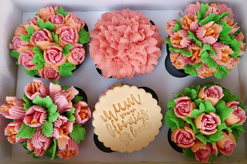 Mother's Day Flower Cupcakes - Box of 6