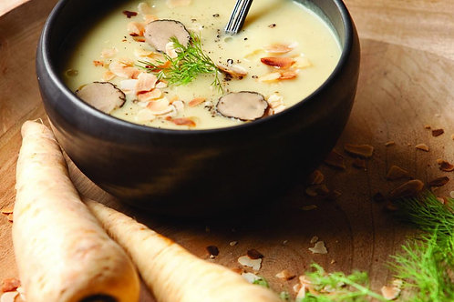 Truffled Parsnip Soup with Mini Cheese Toasties (v) / serves 2