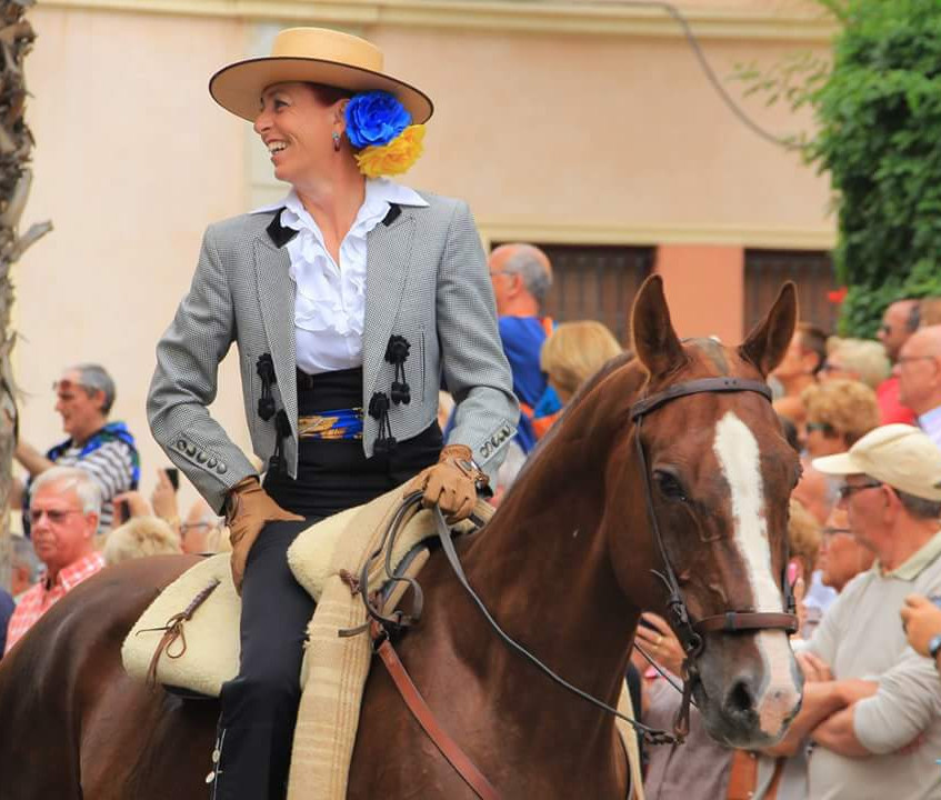 8th May, 2016 - Riding through the streets of Torrevieja for the annual Sevillana Festival.
