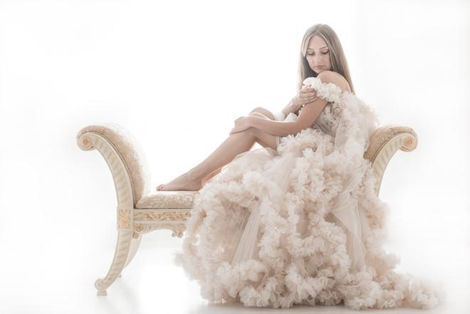 Elegant boudoir fotografering