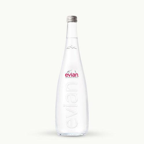 Evian Glass Bottles 75cl