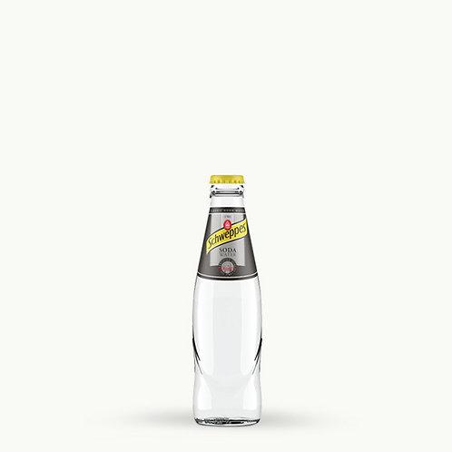 Schweppes Soda Water Glass Bottles 25cl