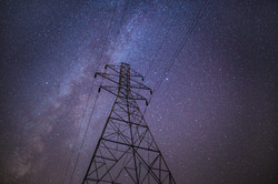 power station night sky