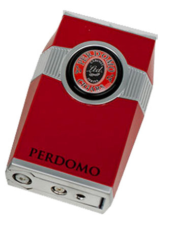 PERDOMO TABLE LIGHTER BY BUGATTI LIGHTERS - BLACK/RED