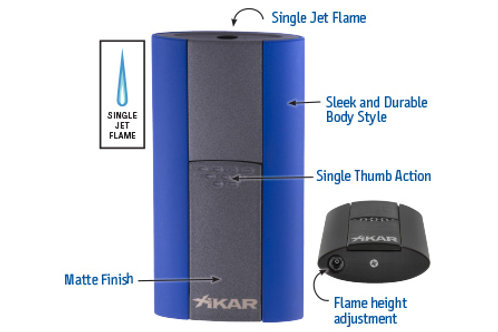 XIKAR FLASH LIGHTER BLUE
