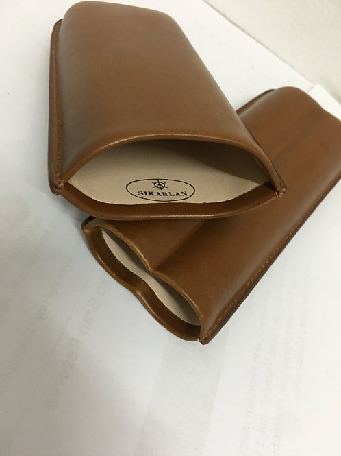 LEATHER CASE 60 RING BROWN