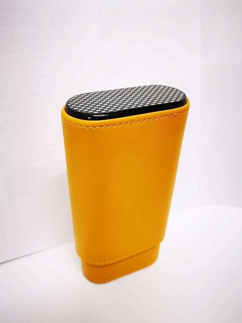 LEATHER Carbon Look CASE 3 Cig.