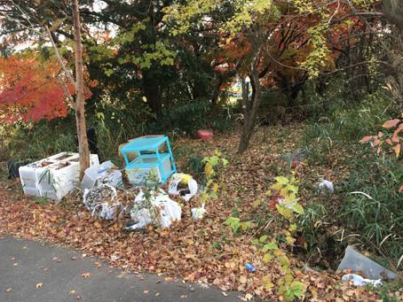 地域の陳情受け付けています。ゴミの不法投棄を撤去しました。