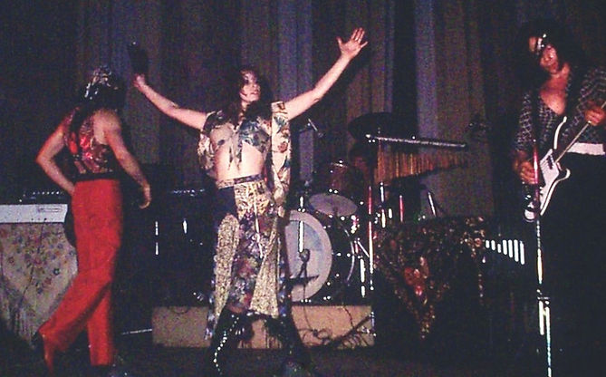 photograph of my band Carmen - the flamenco rock band and Bowie