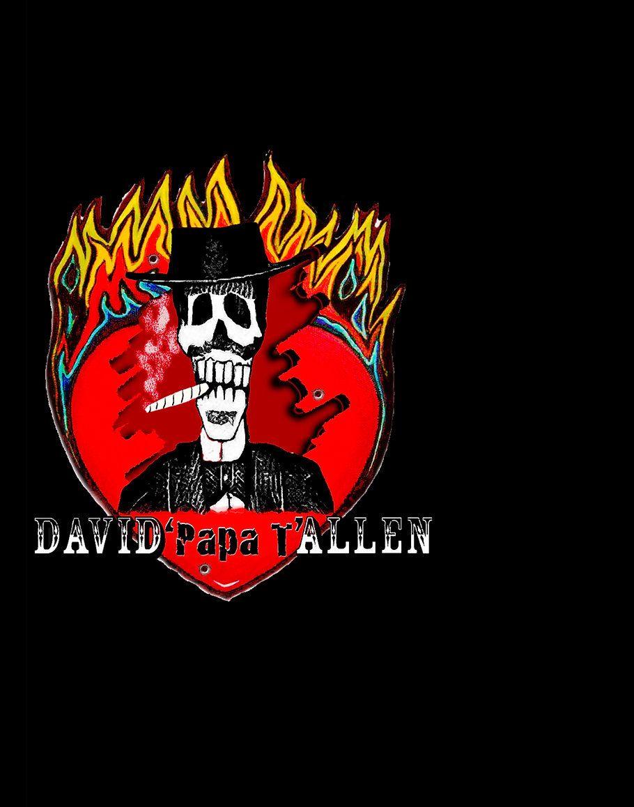 David Clark Allen logo image | founder of flamenco rock band Carmen