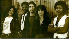 photograph of my first band after Carmen - the flamenco rock band