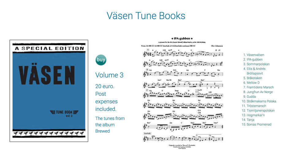 A Tunebook I transcribed for Väsen