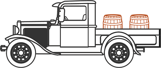 Detailed Truck with Two barrels in the back