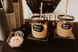 Coffee station at wedding reception