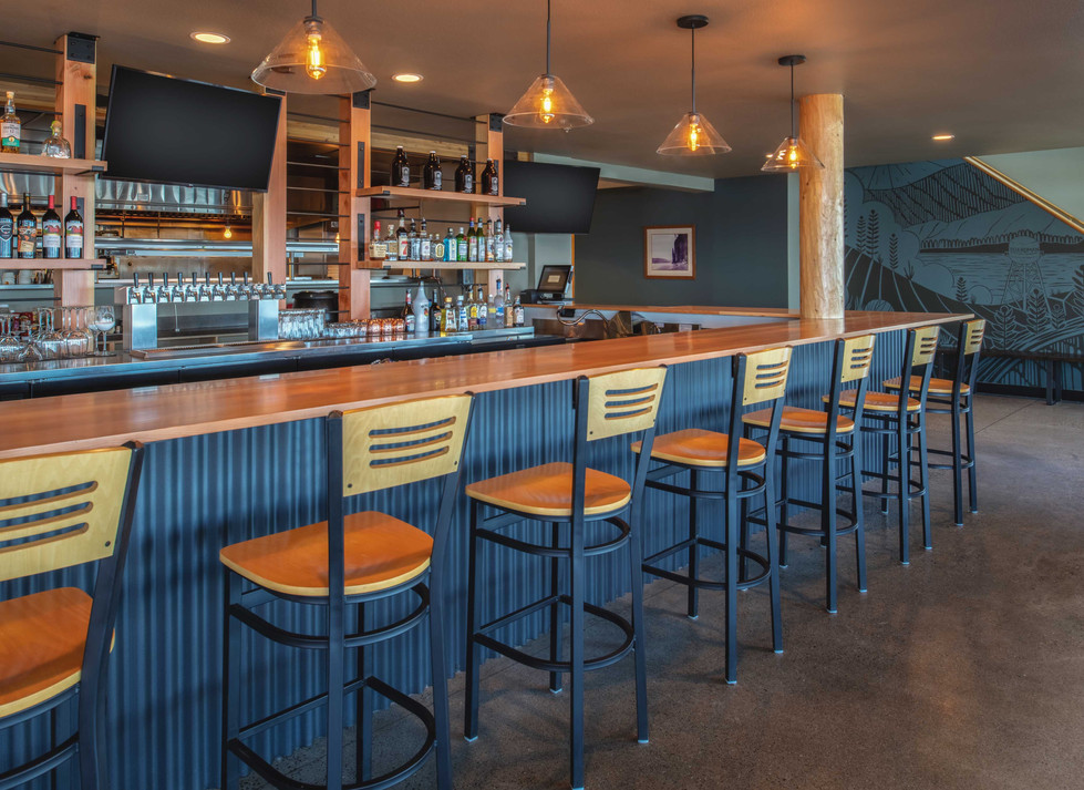 Two Barrels Taps + Grill bar seating