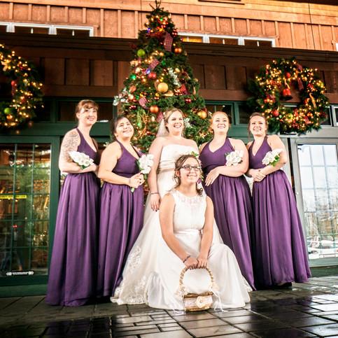 Bride & Bridesmaids at Heathman Lodge