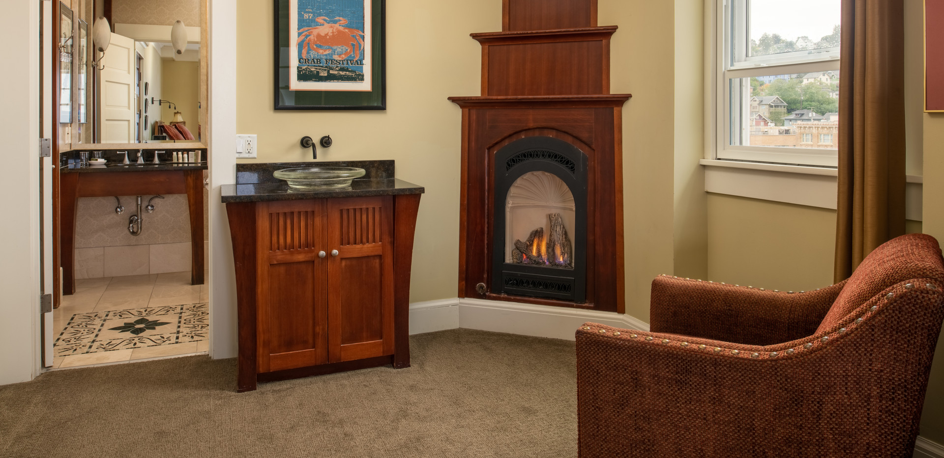 Junior Club Suite with Fireplace