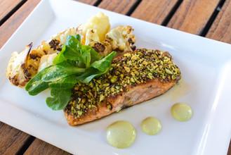 Salmon Dish from Hudson's Bar + Grill