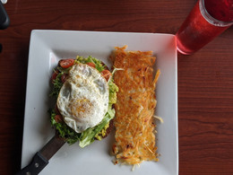 Avocado Toast and hashbrowns