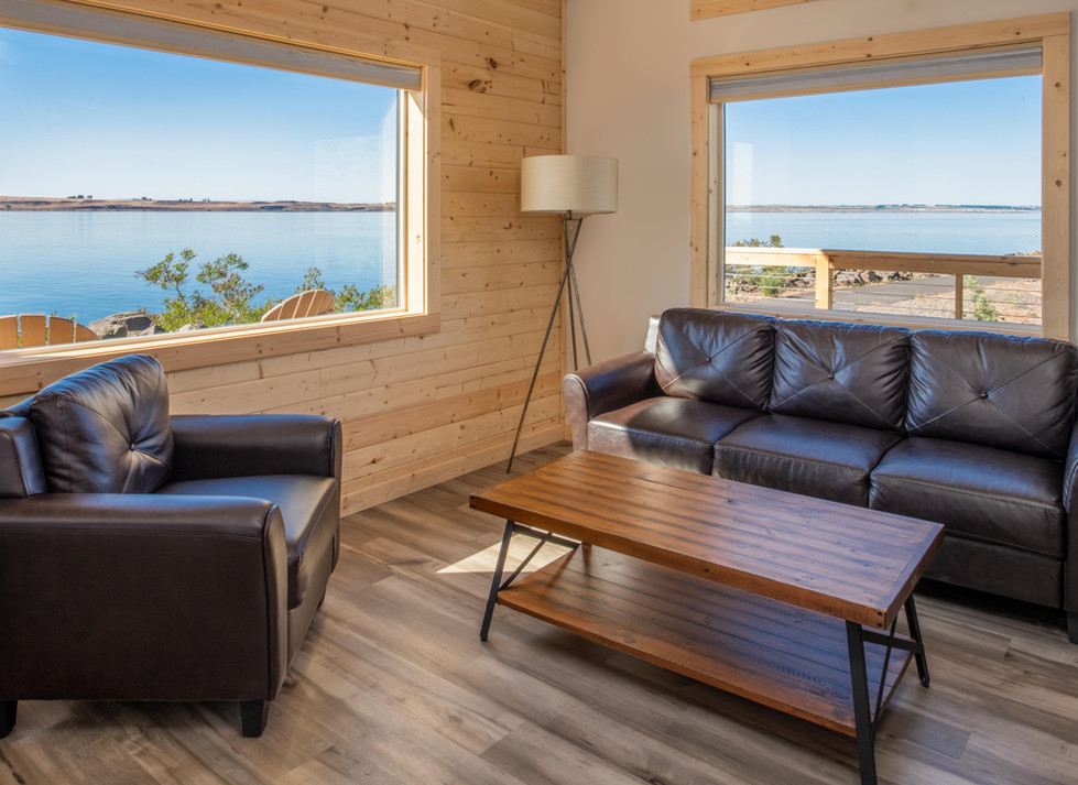 living room views from cabins