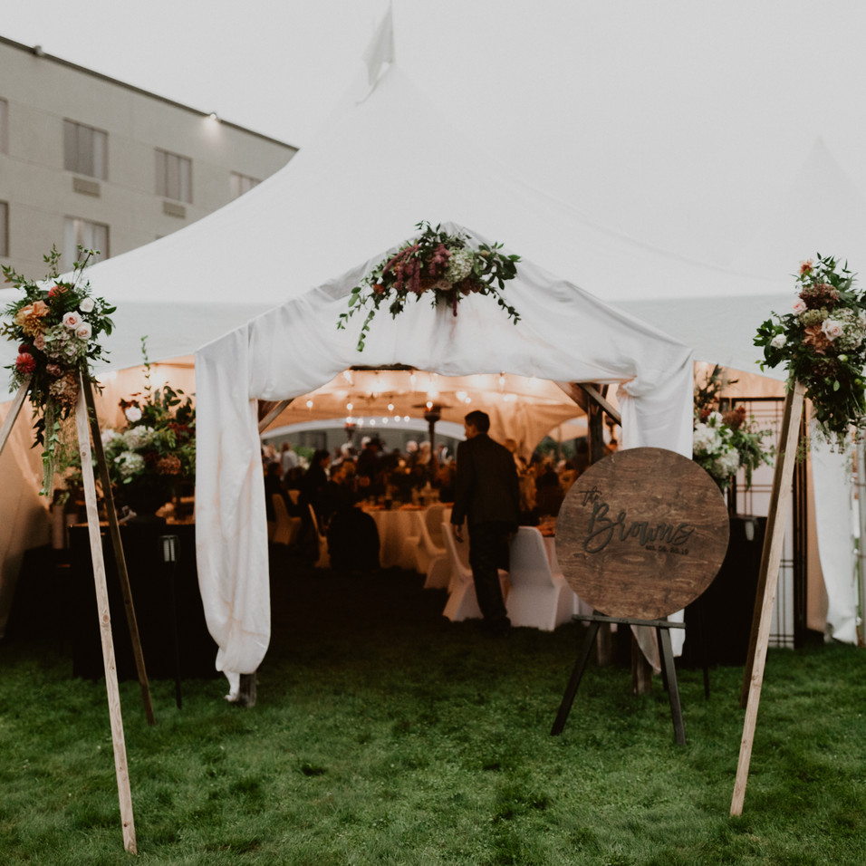 outdoor tent for reception