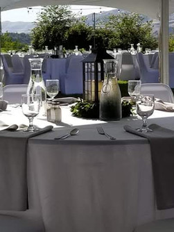 reception table set up