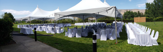 Outdoor Wedding Reception at Hells Canyon Grand Hotel