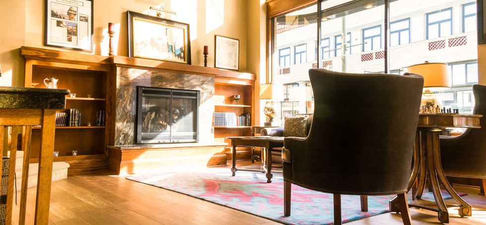 lobby Sitting Area with Fireplace