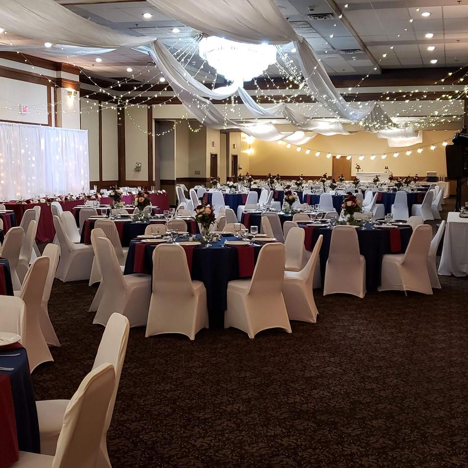 ballroom set up from reception