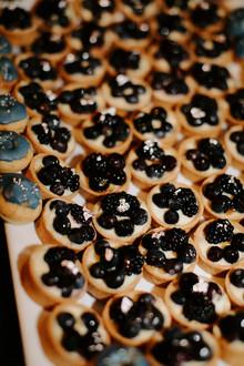close up of dessert tarts