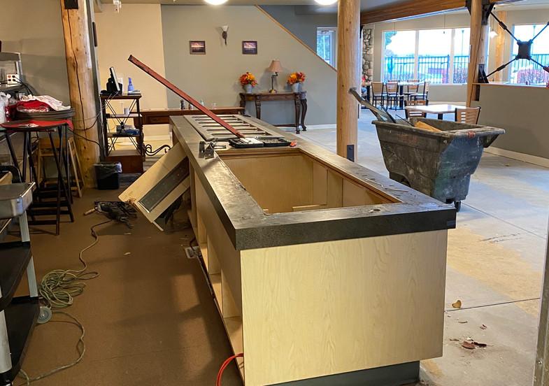 Restaurant renovation counter