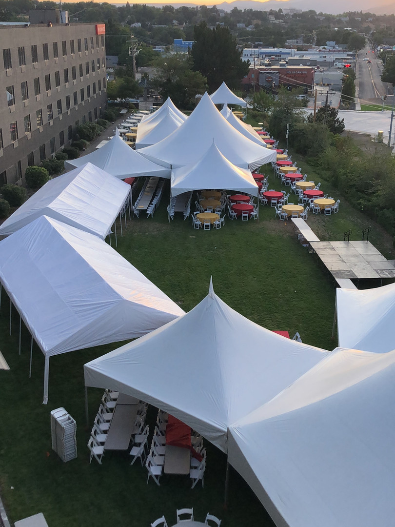 large outdoor event on lawn