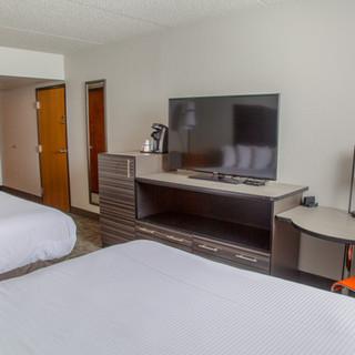 TV in double bed  guestroom