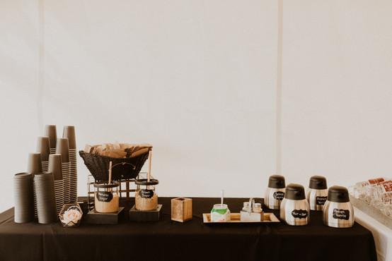 coffee station at wedding recep