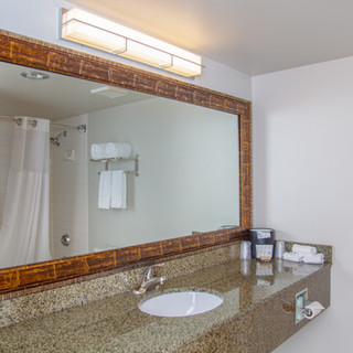 Bathroom in gueat Hells Canyon Grand Hotel