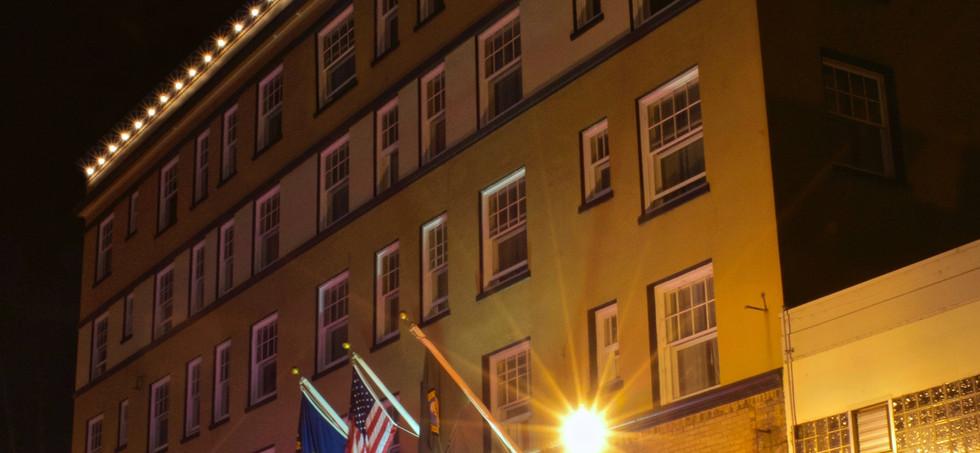 Hotel Elliott Exterior at Night