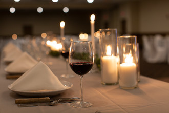 red wine on table at wedding rece