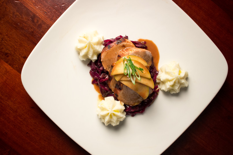 Pork Dish from Hudson's Bar + Grill