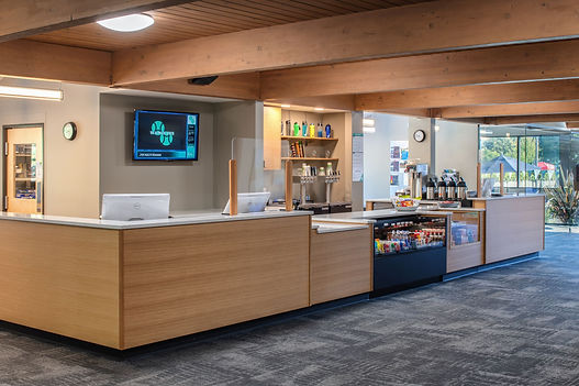 West Hills Check in desk + Grab and go snacks