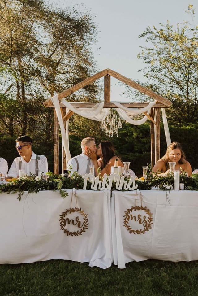 Bride & Groom at head table