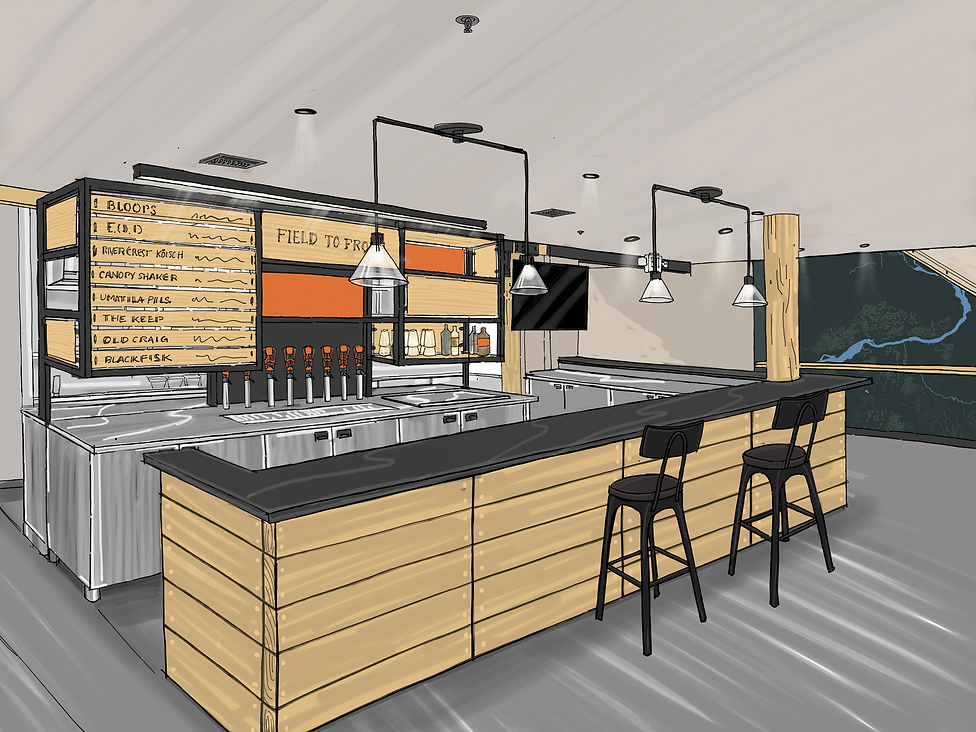 Drawing of new bar area