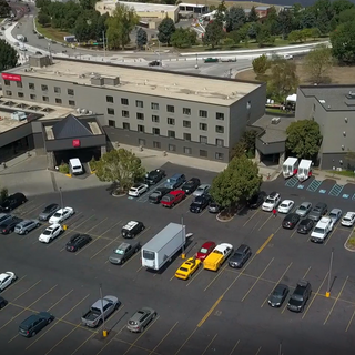 Parking Lot at Hells Canyon Grand Hotel