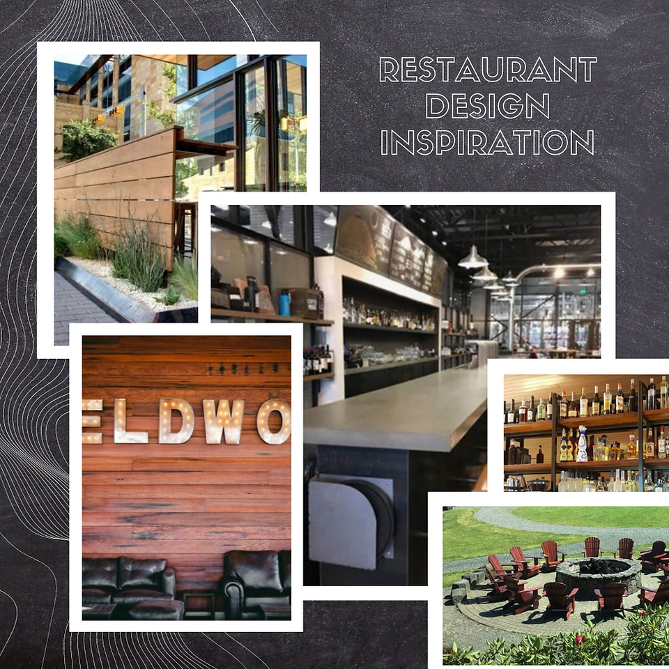 Collage of restaurant inspiration pictures