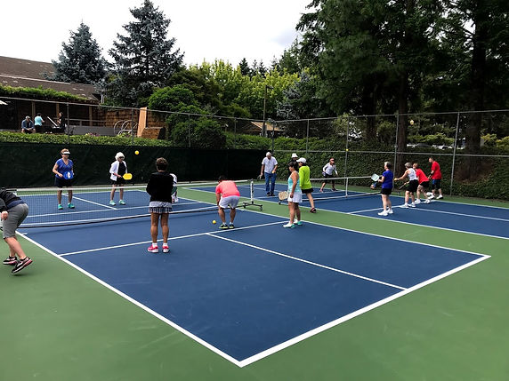 People playing pickleball at West Hills